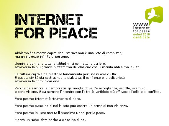 Inernet for Peace